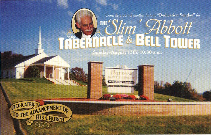 Brother Abbott Tabernacle Dedication