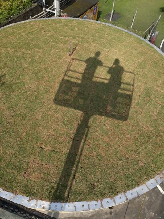 Construção Quiosque Petrocoque - Telhado Verde