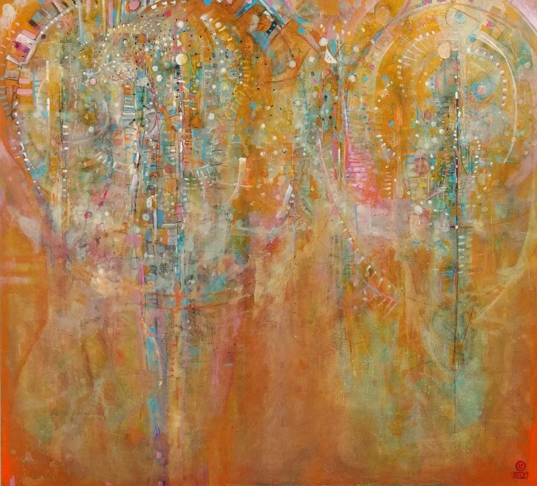 Presencias óleo s/tela 180 x 200 cms / 71 x 79 inches