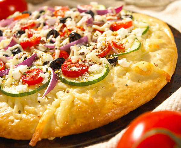 Classical greek pizza