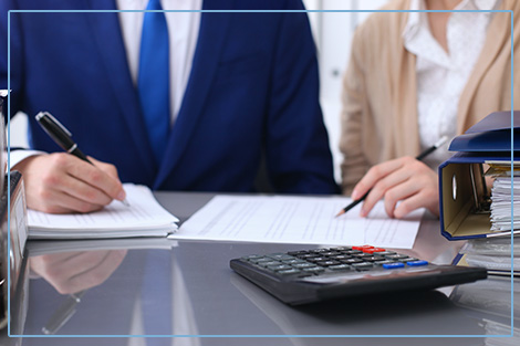 Accountant Checking Financial Document