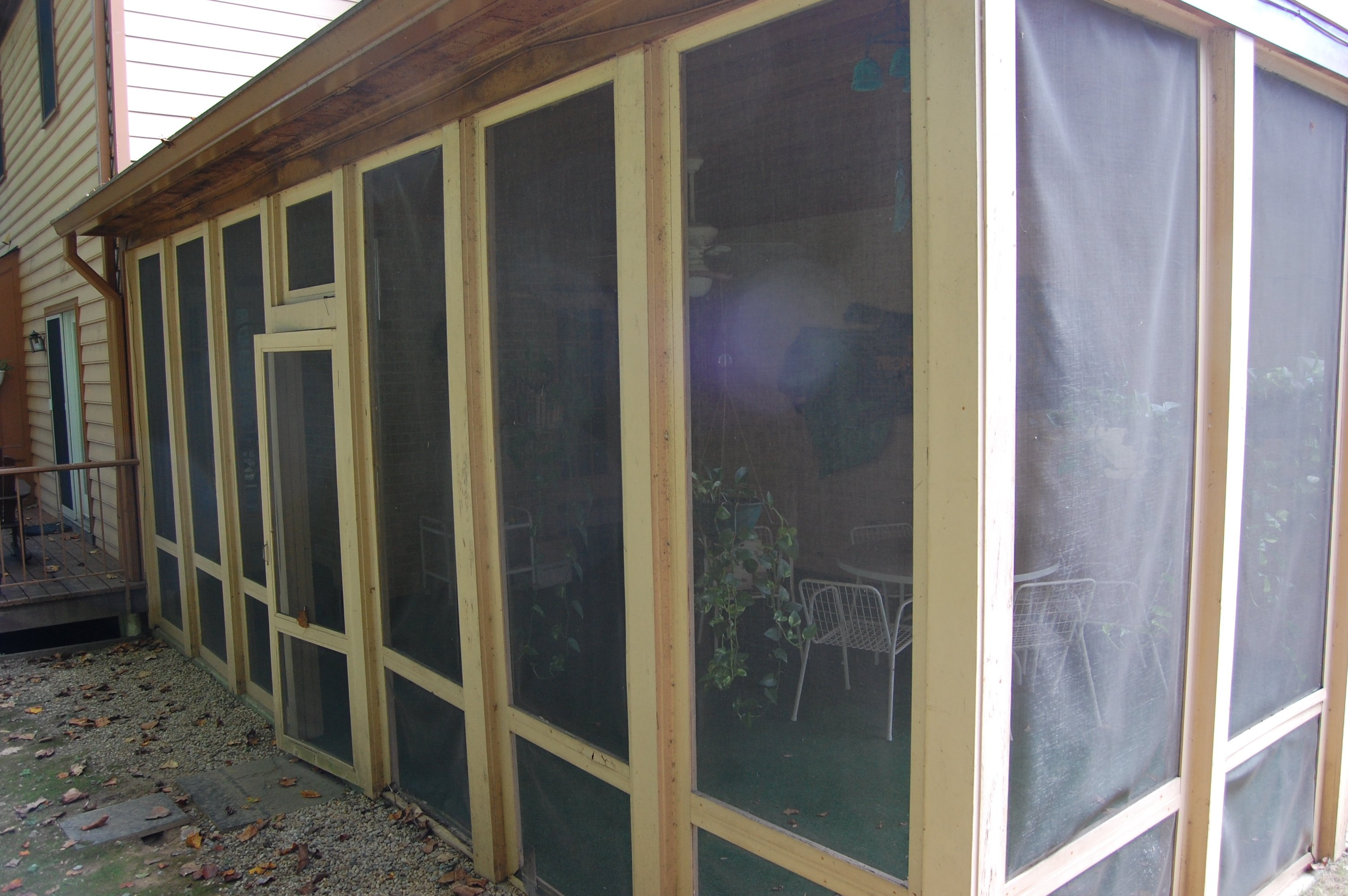 screen porch remodel before
