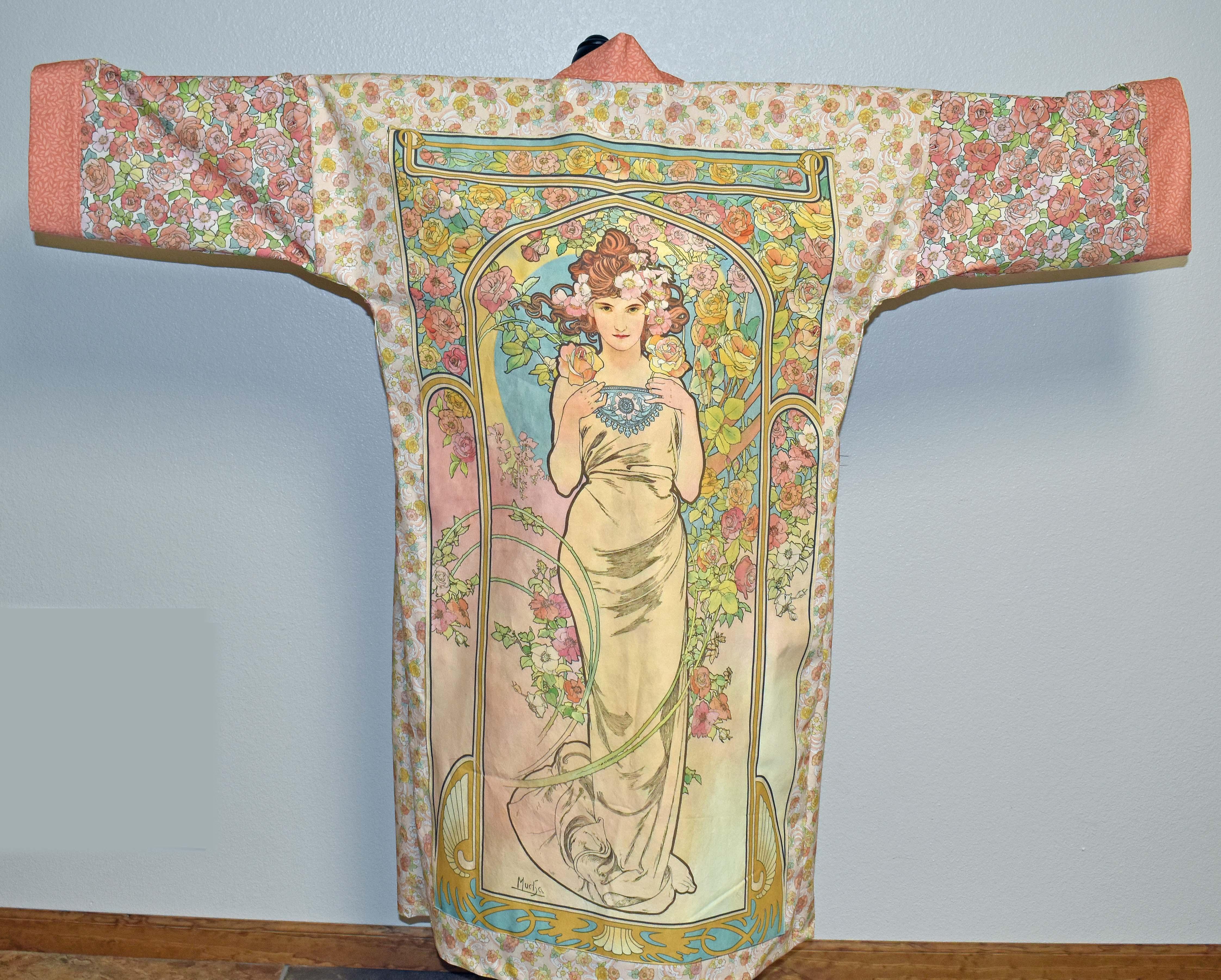 Geisha Garden Kimono Fabric
