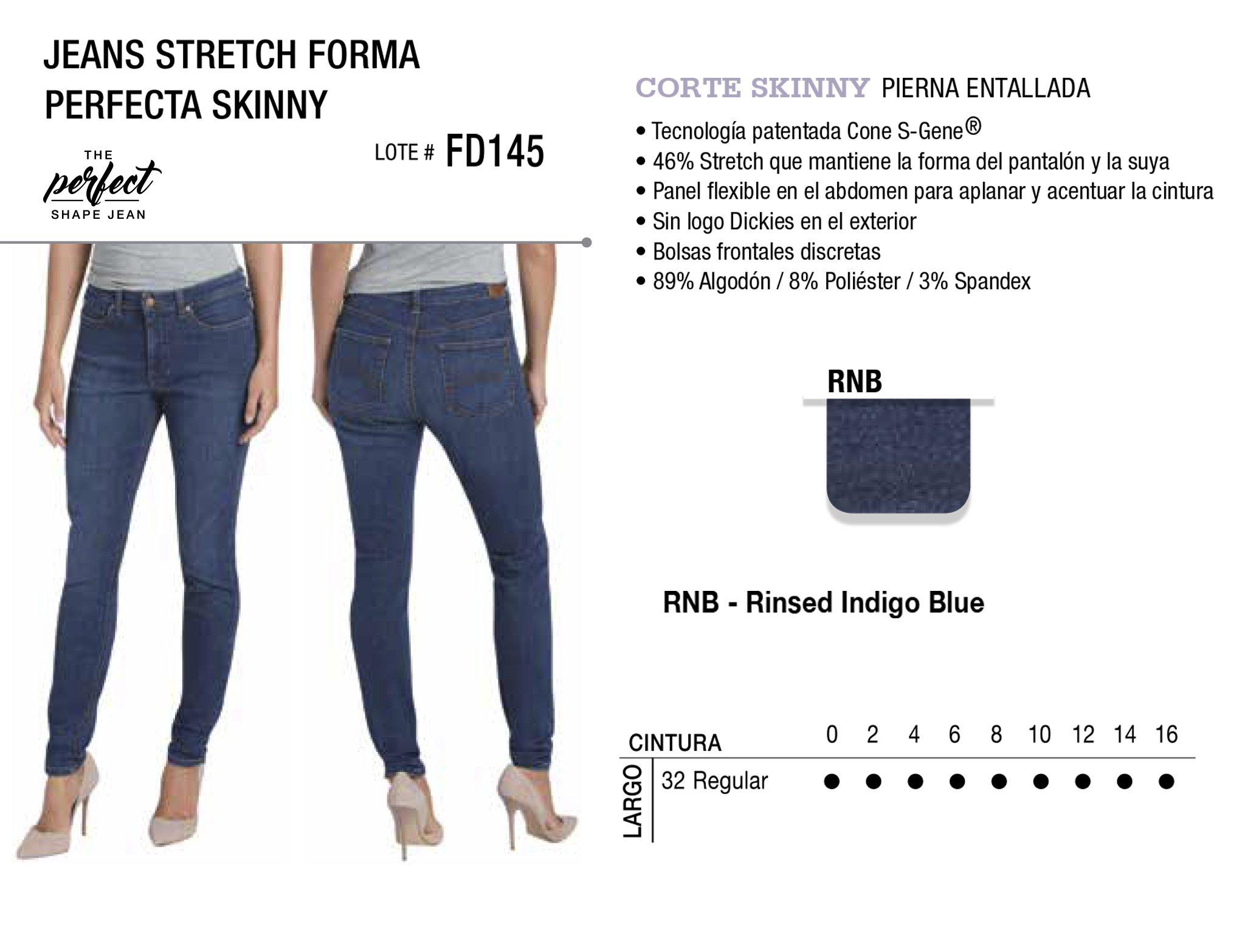 Jeans Stretch Forma Perfecta Skinny. Corte Skinny. FD145.