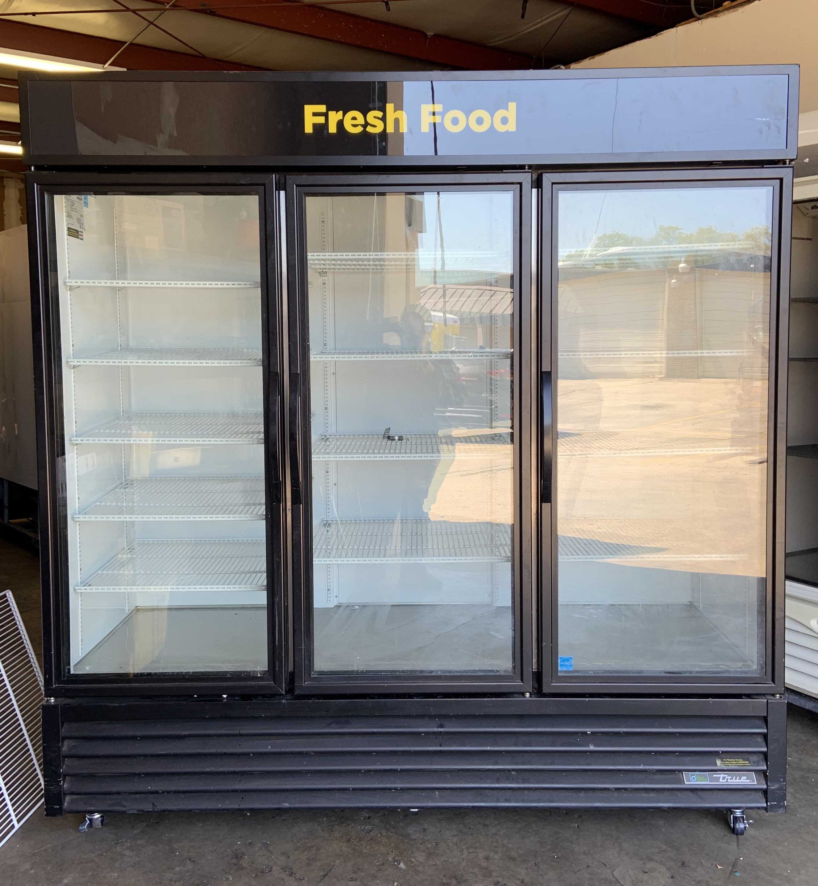 Used True 3 Door Glass Refrigerator Model # GDM-72 $ 2500.00