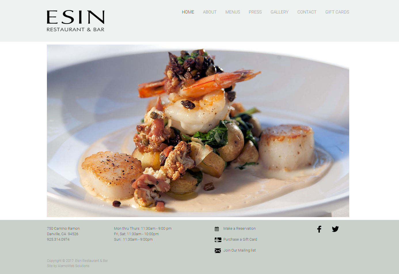 Esin Restaurant Website