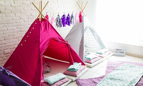 Teepee Tents For Pajama Party