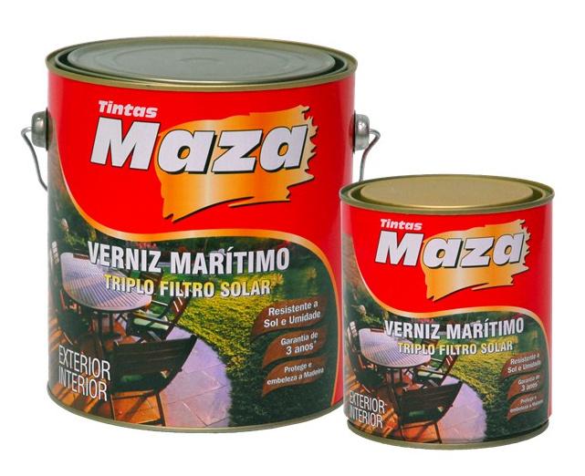 VERNIZ MARÍTIMO NATURAL MAZA FOSCO, BRILHANTE, ACETINADO