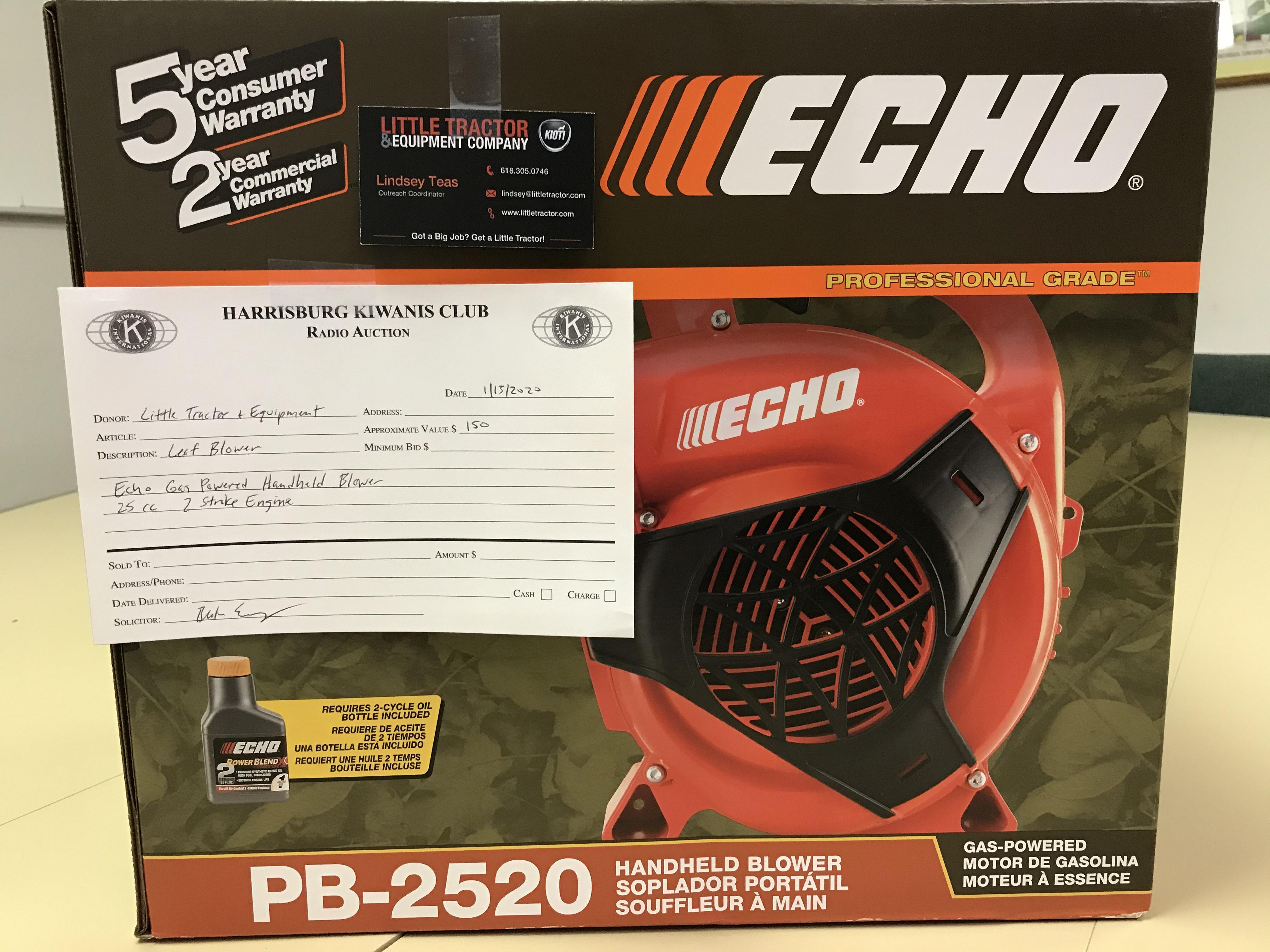Item 434 - Little Tractor & Equipment Echo Gas Powered Handheld Blower