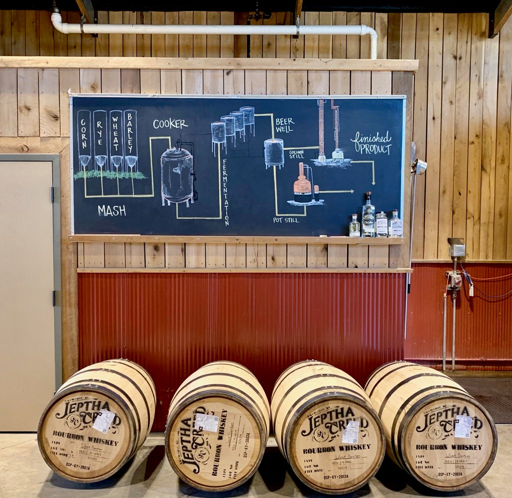 Whiskey Making Education at Jeptha Creed Distillery
