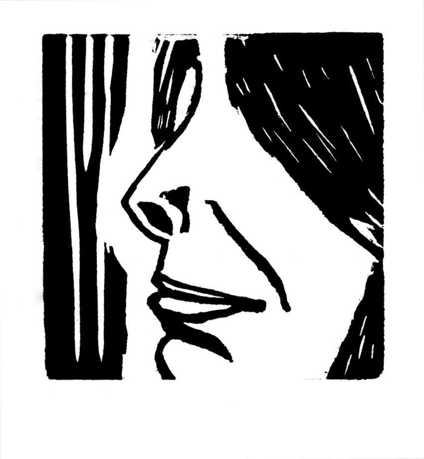 Rostro, 2003 Grabado en madera sobre papel 20 x 20 cm