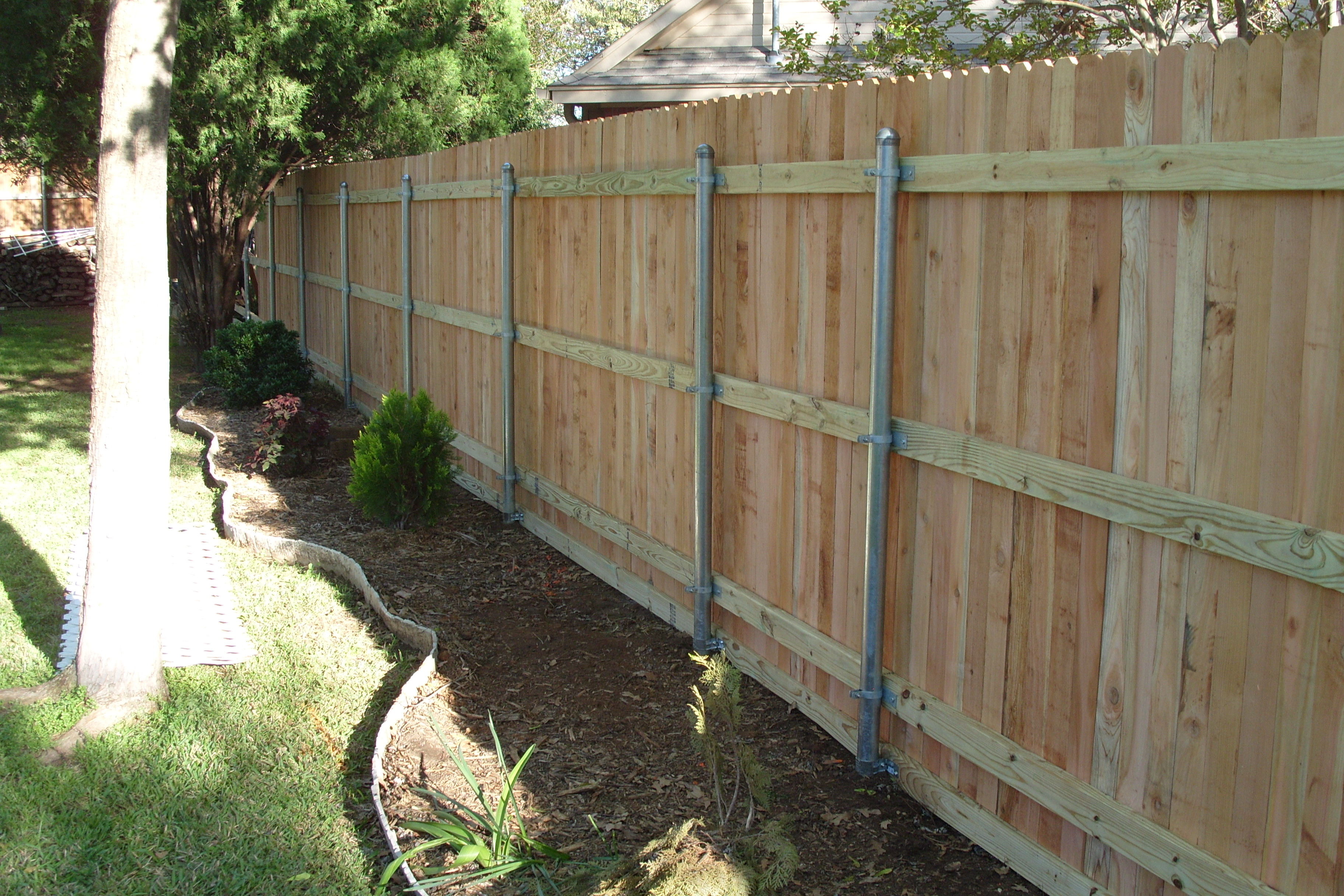 Wooden and Steel Fence