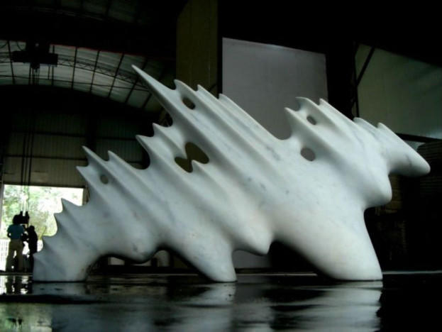 Dragon, marble, studio , Shanghai, China