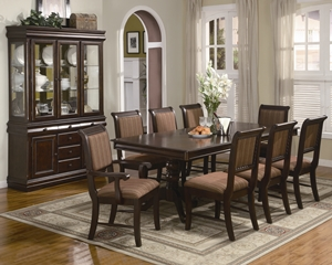 2145 Merlot Dining Set Table, Side Chairs (2 per box) Arm Chairs (2 per box)