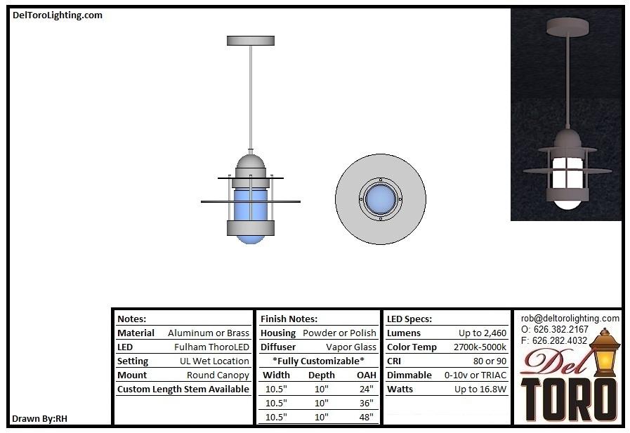 860P-Vapor Glass Pendant