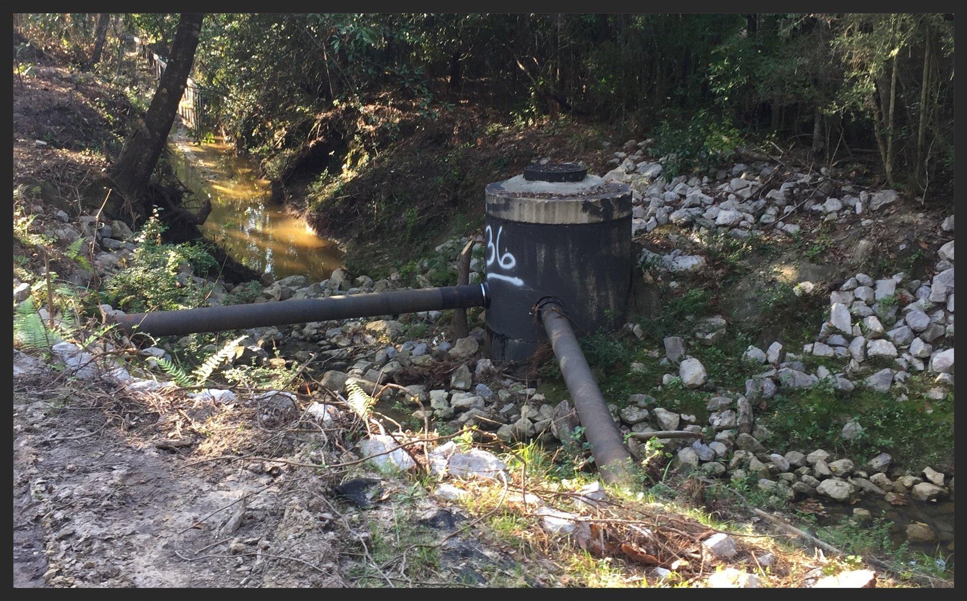 Manhole & Two Sewer Mains