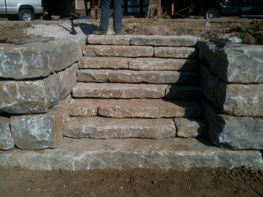 Structural Retaining Wall Steps