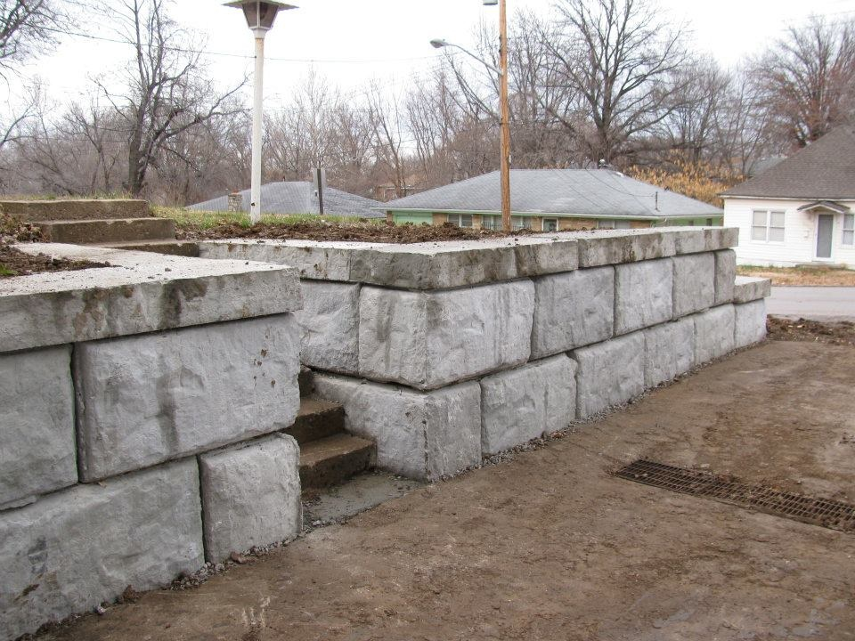 Structural Retaining Wall Steps 2