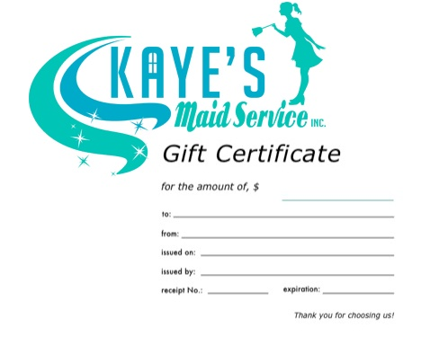 Kaye's Gift Certificate