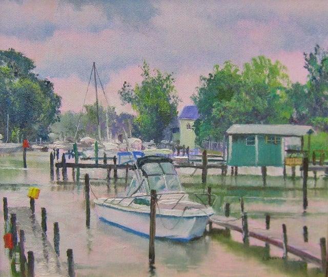 7. Rainy Day, Deale, 9x10 oil on canvas