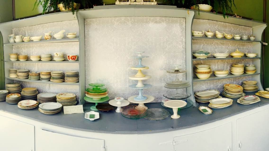 Vintage Plates and Cupcake Holders
