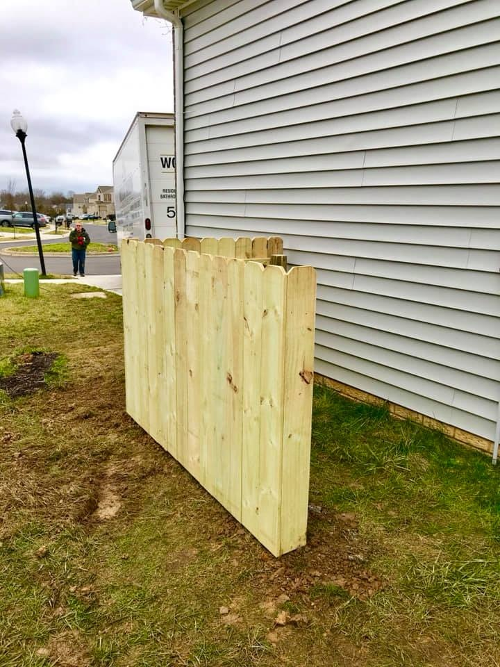 Mershon Trash Enclosure Fence 2