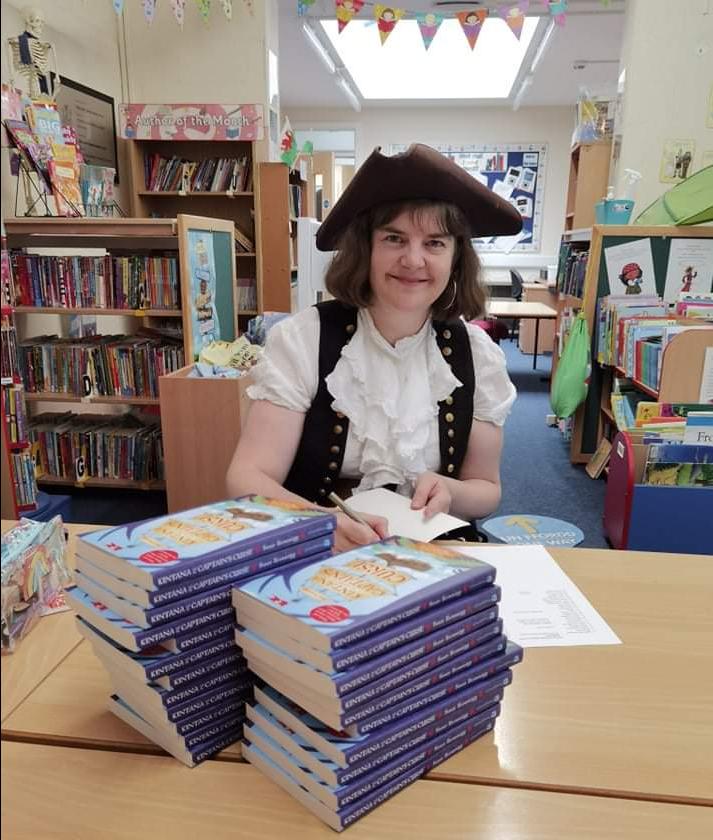 Susan Brownrigg with her books