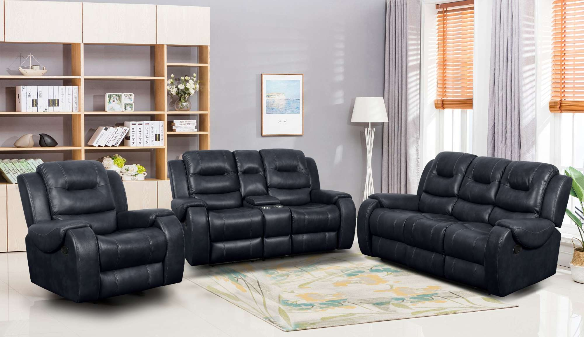 Reclining Sofa and Loveseat Set LRPX2908NA Jasper Navy