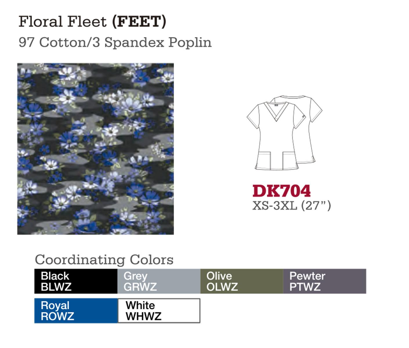 Floral Fleet. DK704.