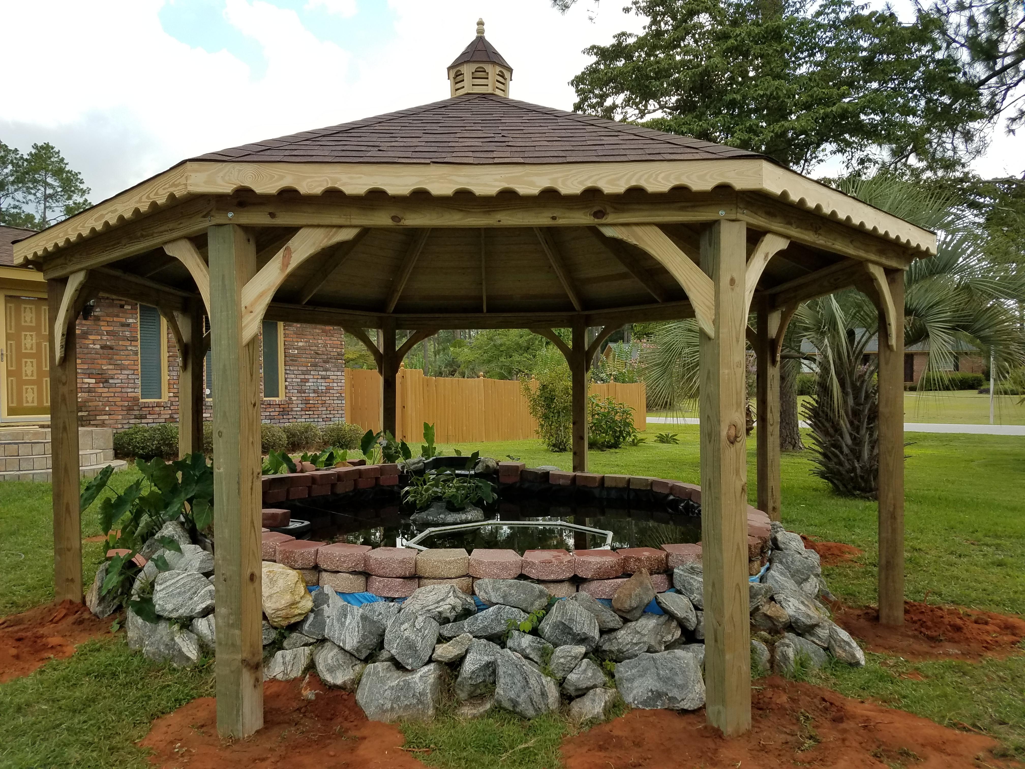 18x18 Octagon Pavilion Coy Pond Shelter