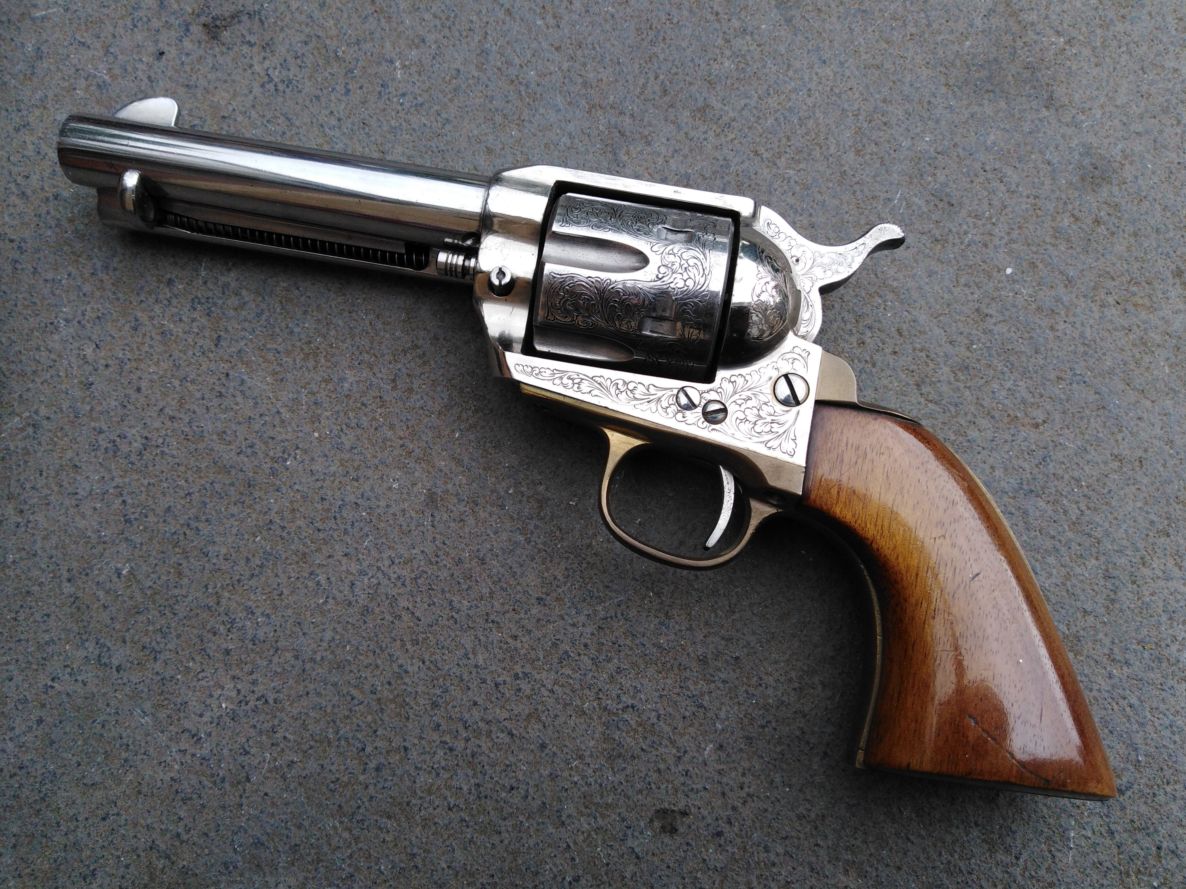 SOLD Engraved Adler Colt 1873