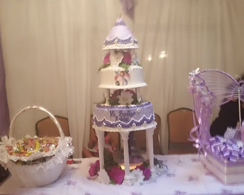 Lavender Baptism Cake