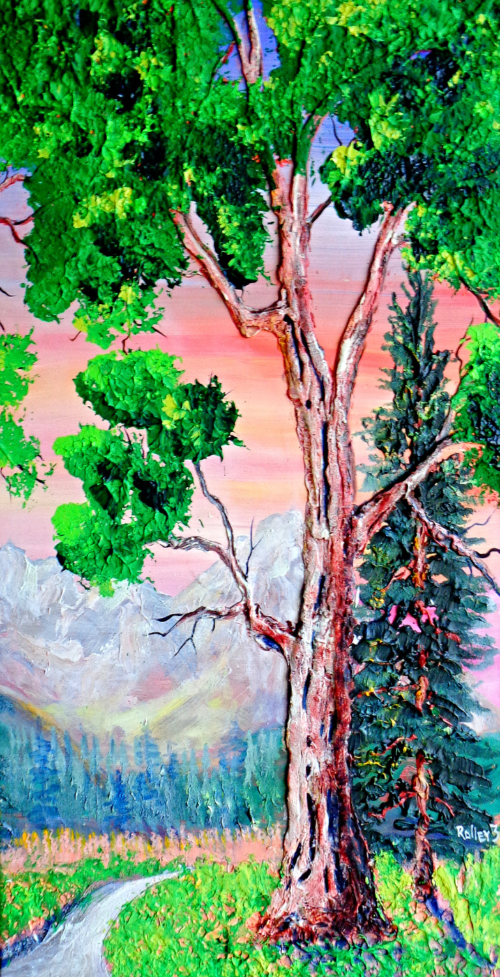 FOUR SEASONS  SUMMER  22X40 $350     HIGHLIGHTED  WITH GLOW IN  DARK  LUMINESCENT  PAINT