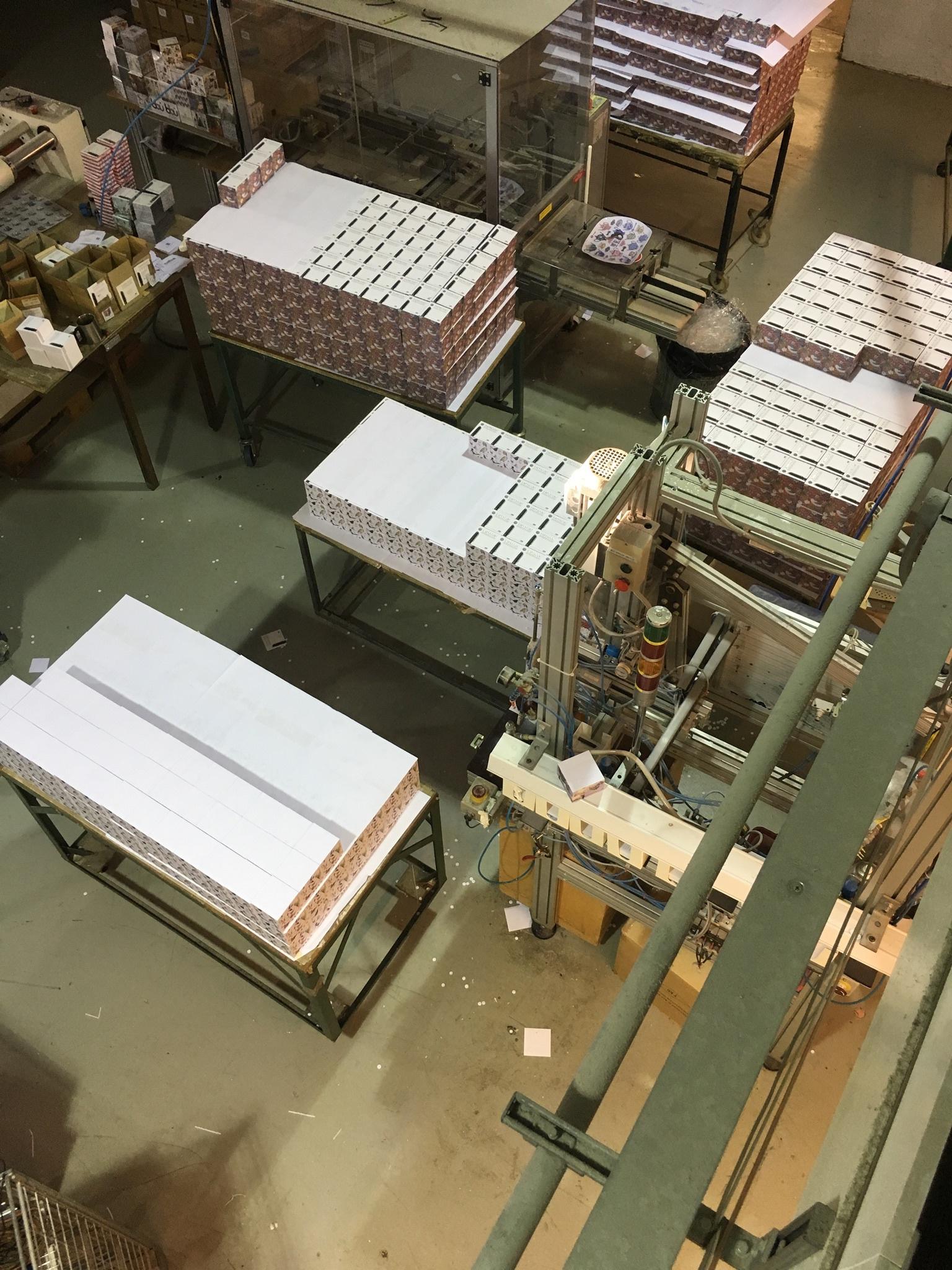 Padblocks in production.