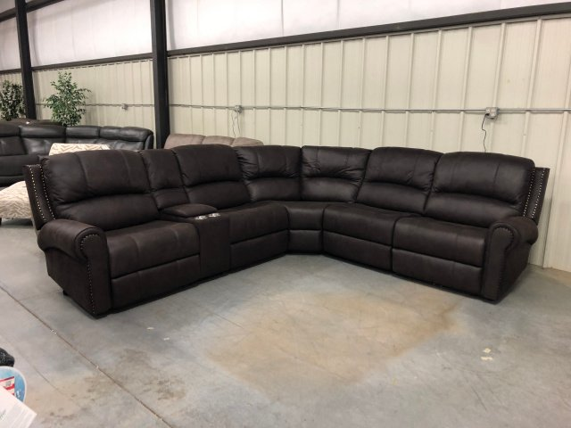 5260 Lissom Chocolate Power Reclining Sectional Set