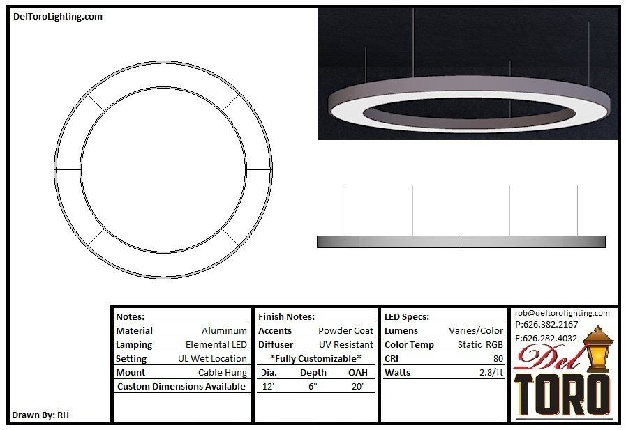 004P-12ft Ring Downlight