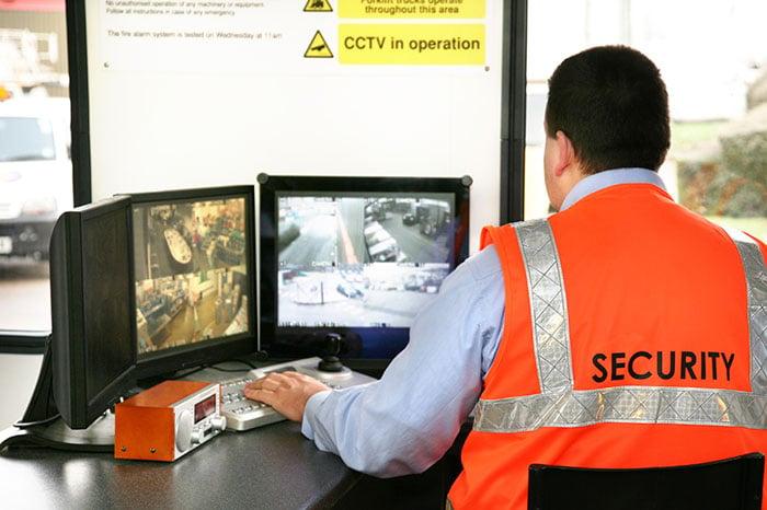 Security guard at cctv