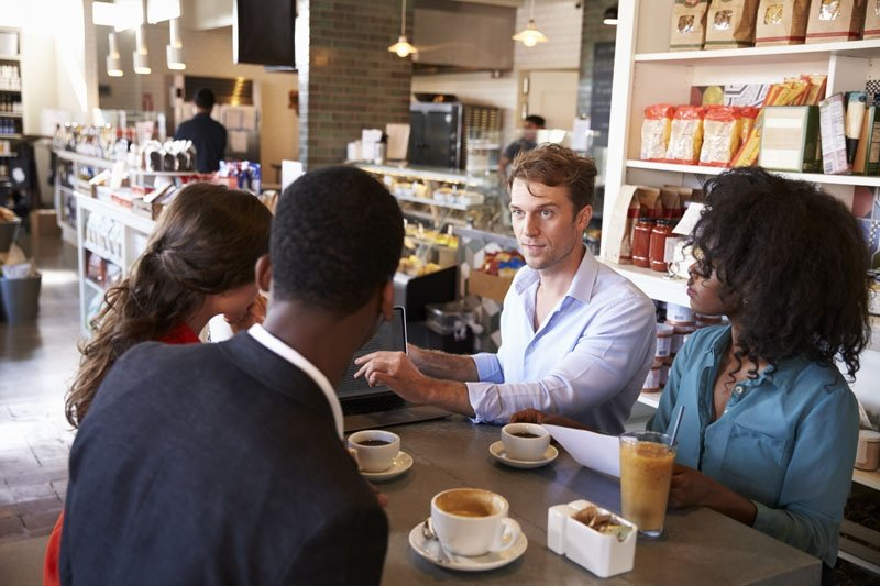 Business Group Having Informal Meeting