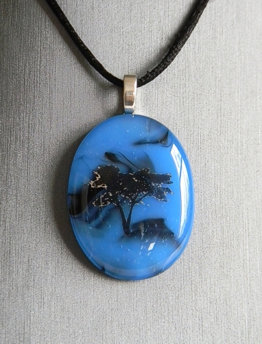 """Nature_Blue_02"" by Nataliya Guchenia Size - 1-3/4""H X 1-3/8""W $33.00"