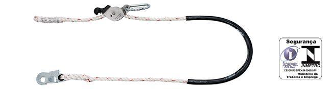 Talabarte em corda com regulador de  distância inox
