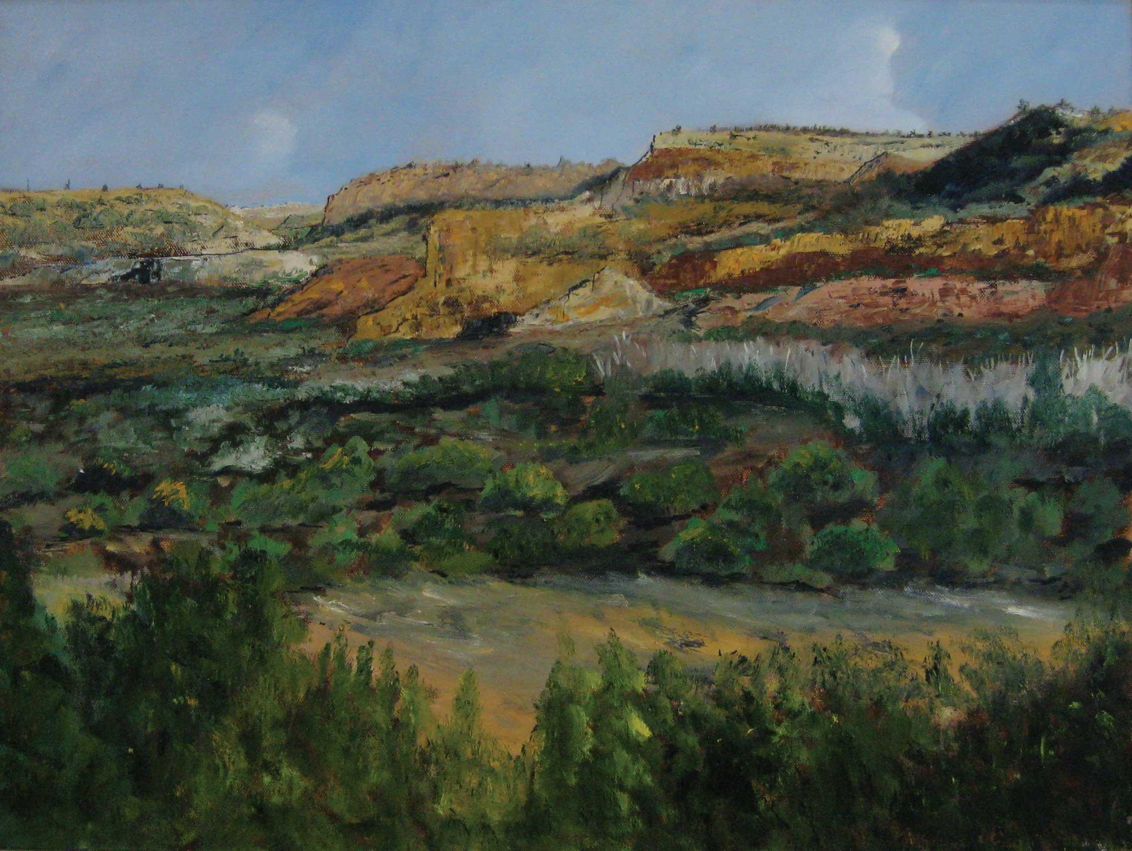 Texas Textures, 18 x 24 Oil