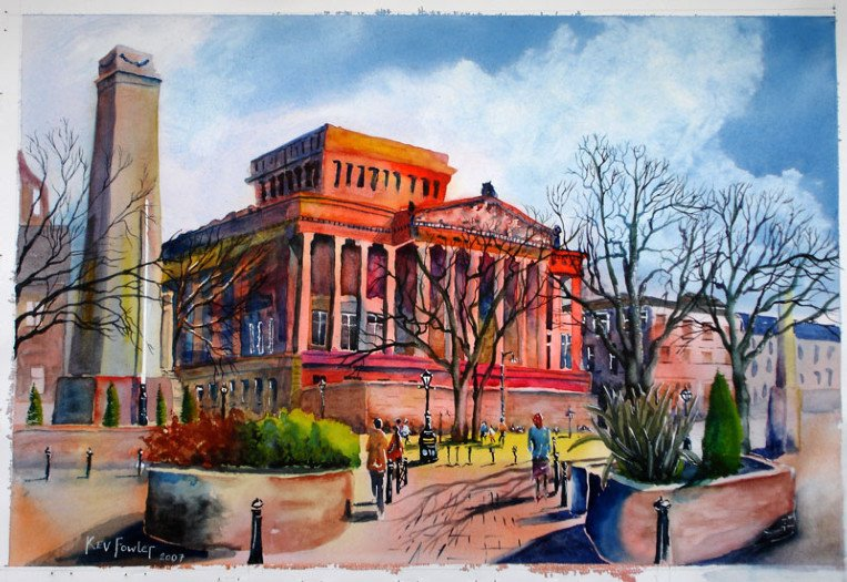 Harris Library Preston Watercolour - SOLD
