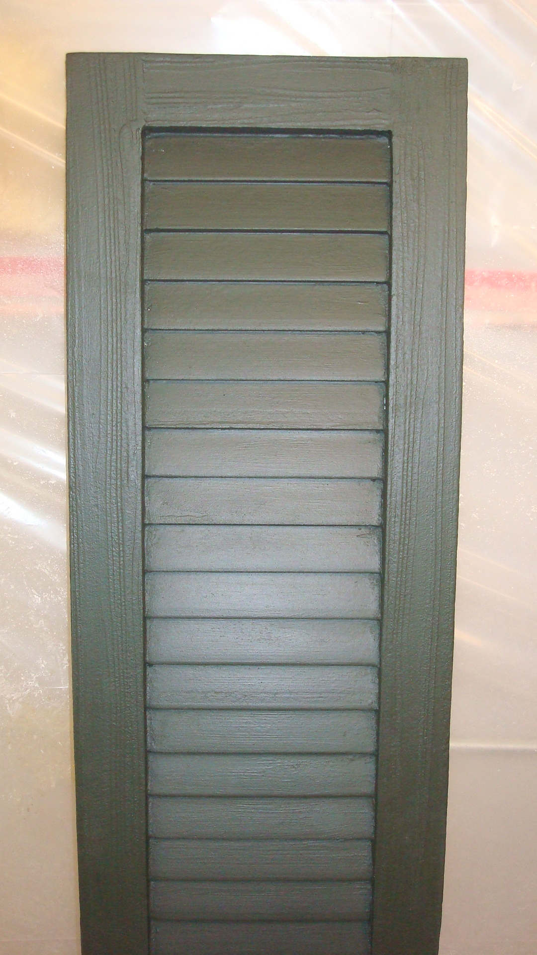 Faux Wood Louvered Shutter