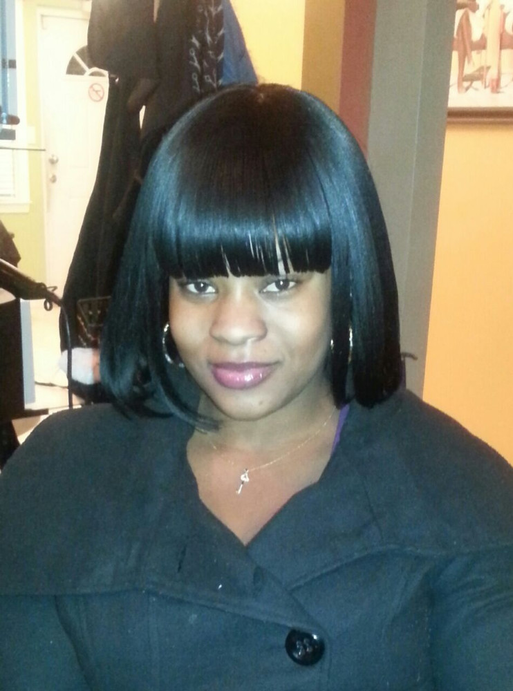 FULL SEW -IN WEAVE/ BANGS NO HAIR LEAVE OUT