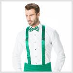 Green Cummerbund and Suspender
