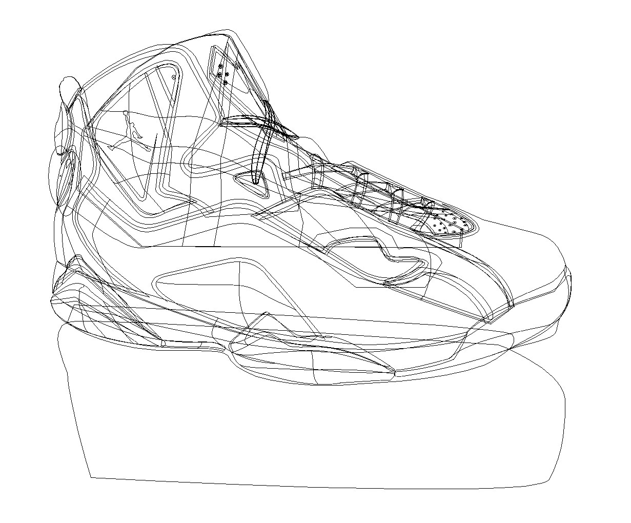 Vector shoe drawing - Adobe Illustrator