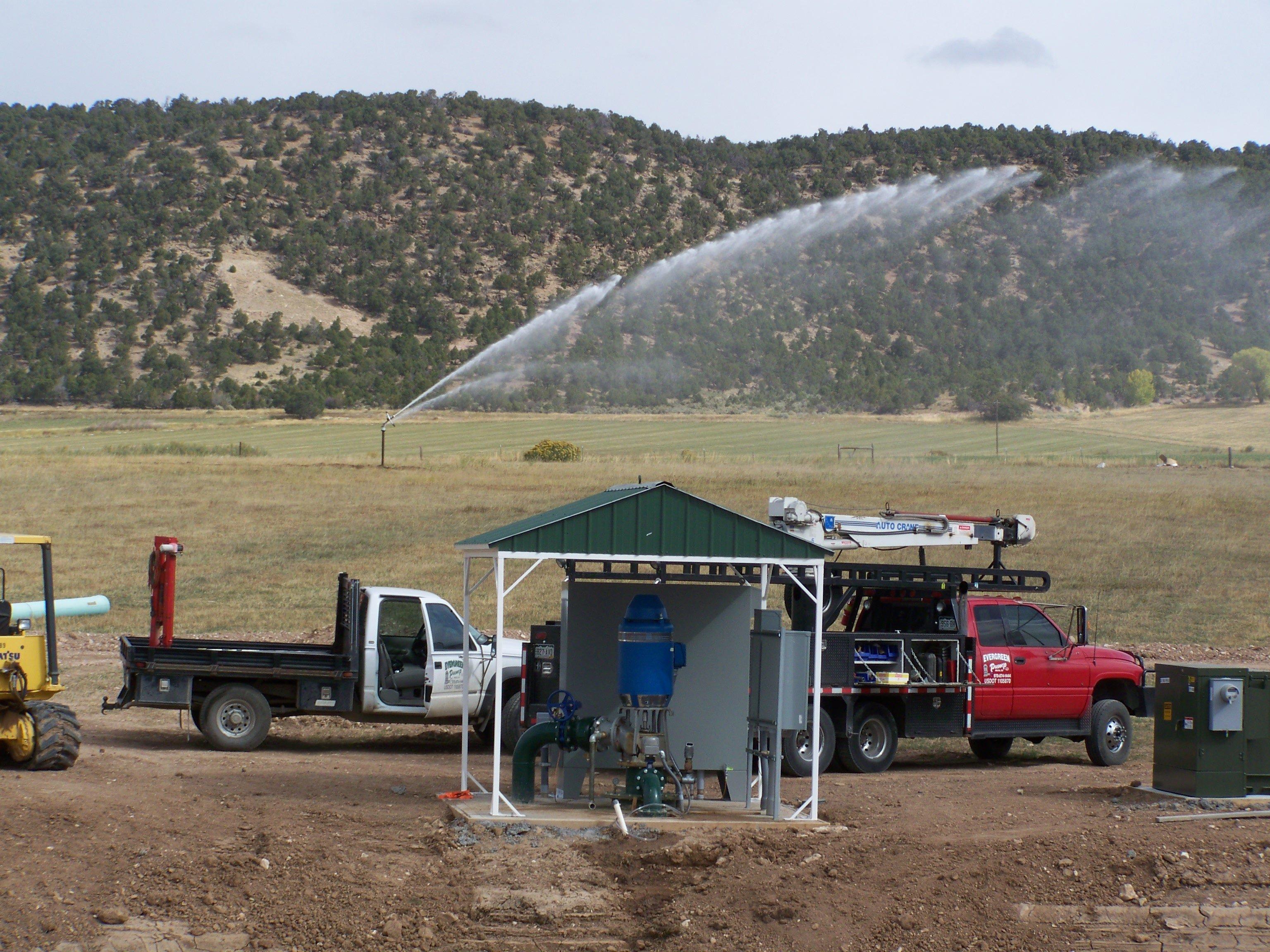 Irrigation pumps on a farm||||