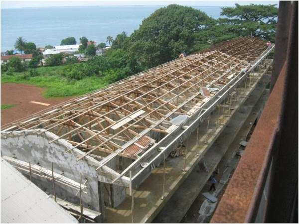 Construction progress of the New Classroom  Block