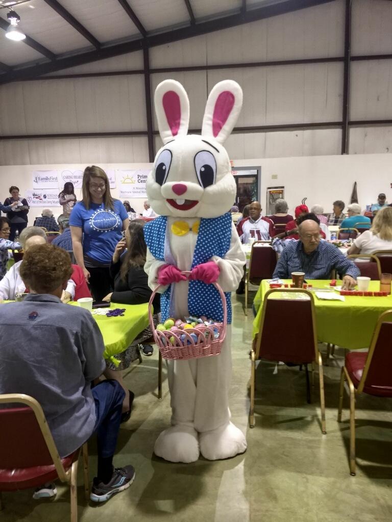 Easter bunny visits PrimeTime folks!