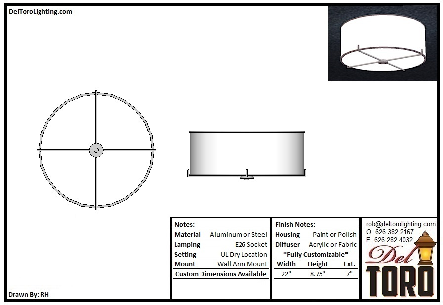 006C-Cross Bar Flush Mount
